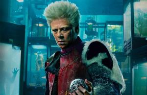 Looking very much like Mugatu from Zoolander as Marvel's The Collector